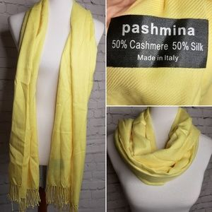 Pashmina cashmere silk scarf made in Italy